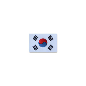 태극기미니PVC_화이트_Korea Flag Mini PVC Patch