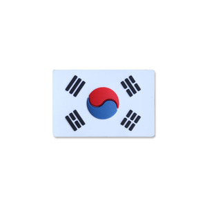 태극기스몰 PVC_WHITE_Korea Flag Small PVC Patch NO336